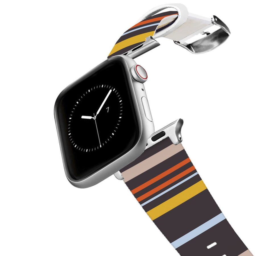 Retro Stripes Warm Apple Watch Band Apple Watch Band C4 BELTS