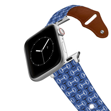 Bits Blue Leather Apple Watch Band Apple Watch Band - Leather C4 BELTS