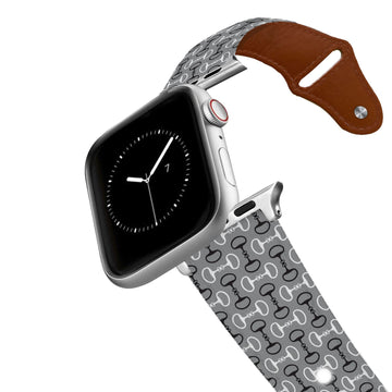 Bits Grey Leather Apple Watch Band Apple Watch Band - Leather C4 BELTS