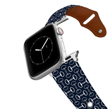 Bits Navy Leather Apple Watch Band Apple Watch Band - Leather C4 BELTS
