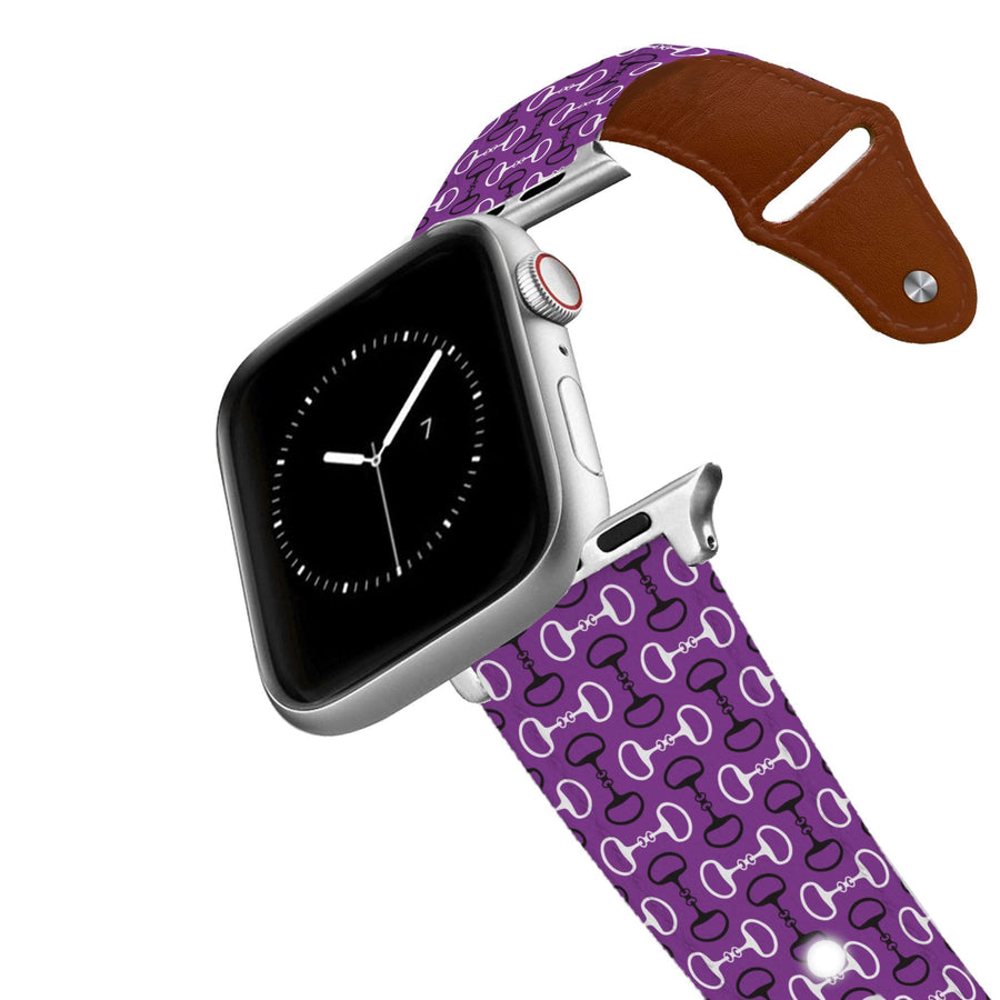 Bits Purple Leather Apple Watch Band Apple Watch Band - Leather C4 BELTS