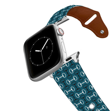Bits Teal Leather Apple Watch Band Apple Watch Band - Leather C4 BELTS
