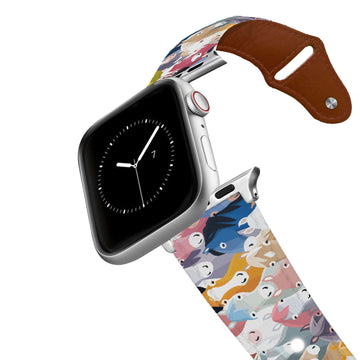 Horse Heads Leather Apple Watch Band Apple Watch Band - Leather C4 BELTS