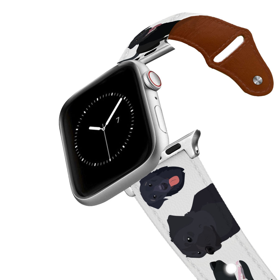 Black Lab Leather Apple Watch Band Apple Watch Band - Leather C4 BELTS