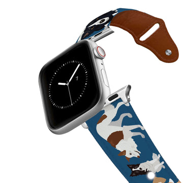 Border Collie Leather Apple Watch Band Apple Watch Band - Leather C4 BELTS