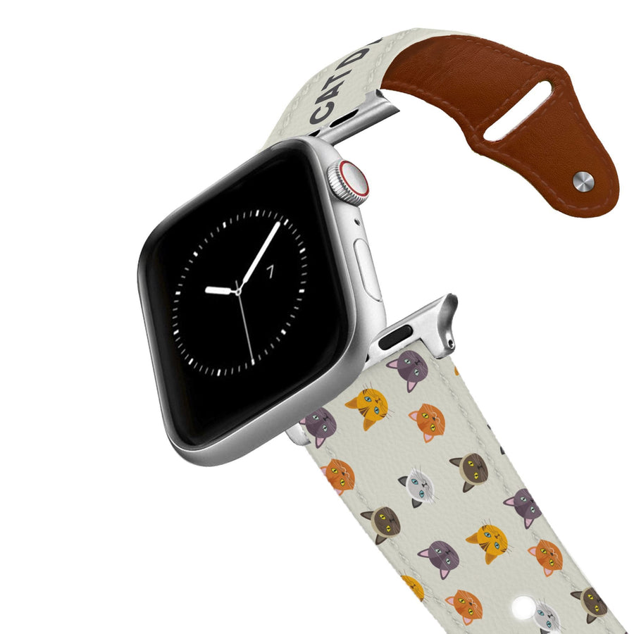 Cat Dad Leather Apple Watch Band Apple Watch Band - Leather C4 BELTS