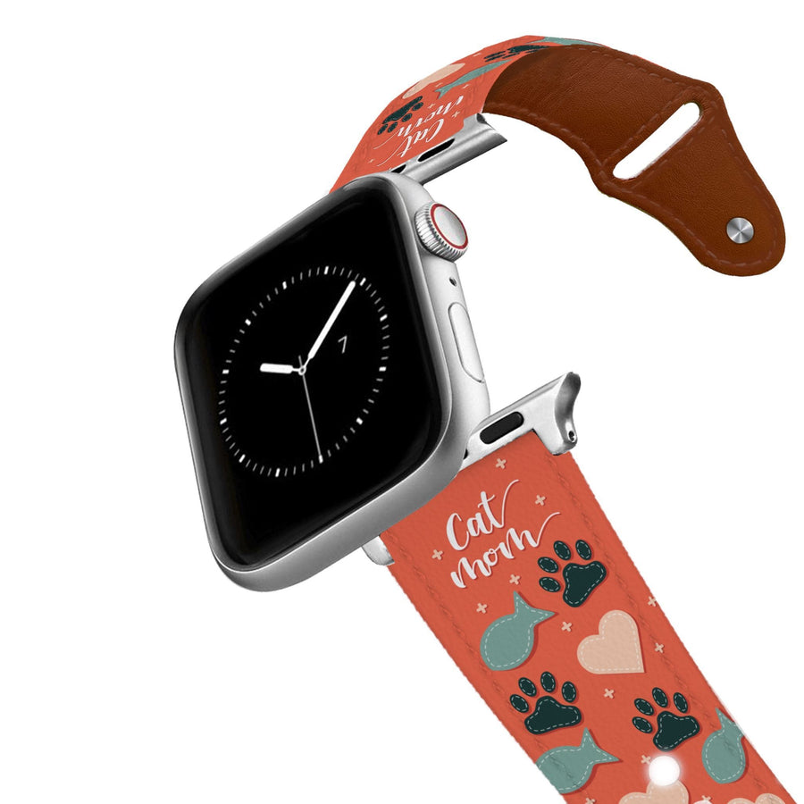 Cat Mom Leather Apple Watch Band Apple Watch Band - Leather C4 BELTS