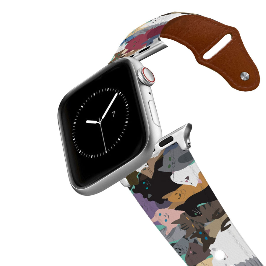 Cat Party Leather Apple Watch Band Apple Watch Band - Leather C4 BELTS