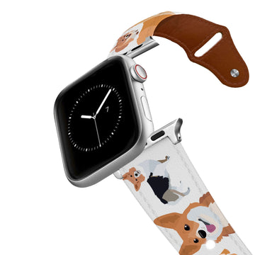 Corgi Leather Apple Watch Band Apple Watch Band - Leather C4 BELTS