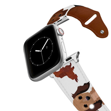 Dachshund Leather Apple Watch Band Apple Watch Band - Leather C4 BELTS