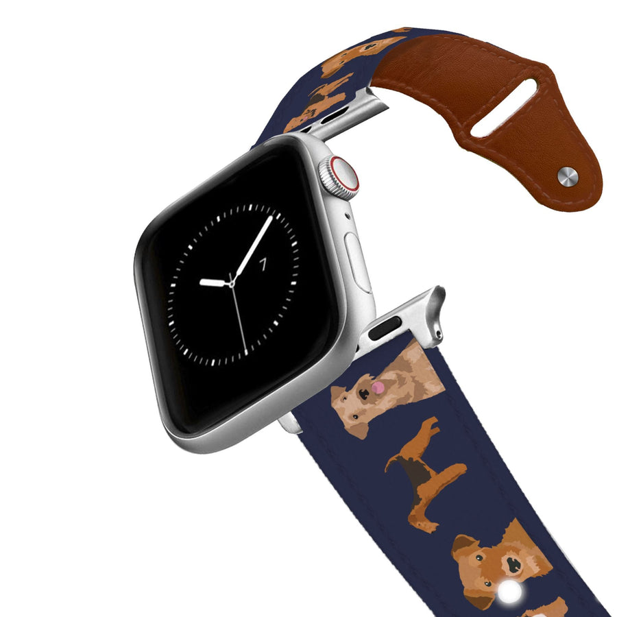 Airedale Terrier Leather Apple Watch Band Apple Watch Band - Leather C4 BELTS