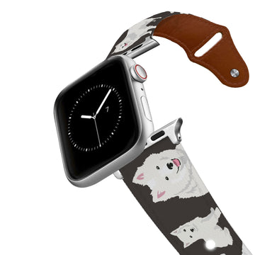 American Eskimo Dog Leather Apple Watch Band Apple Watch Band - Leather C4 BELTS