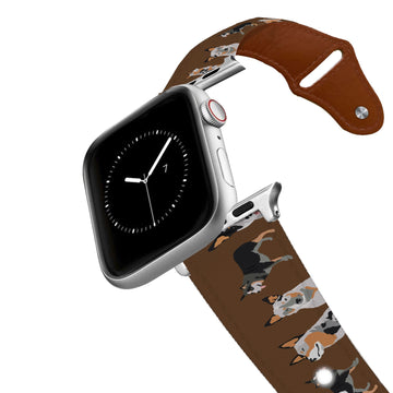 Australian Cattle Dog Leather Apple Watch Band Apple Watch Band - Leather C4 BELTS
