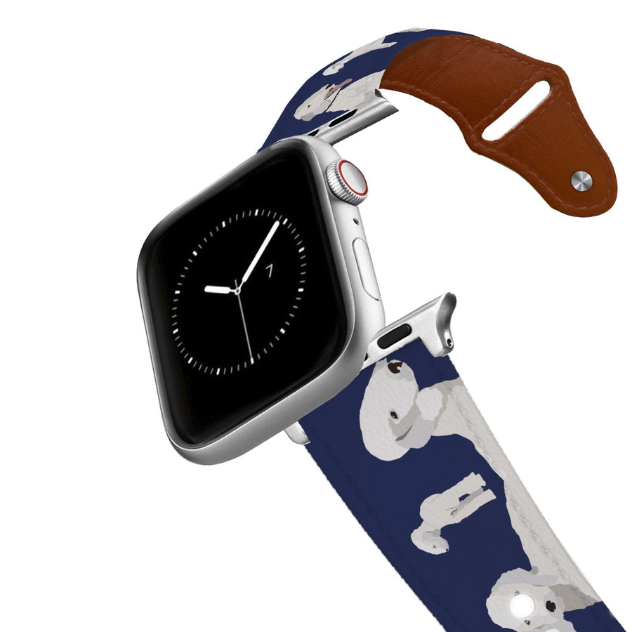 Bedlington Terrier Leather Apple Watch Band Apple Watch Band - Leather C4 BELTS