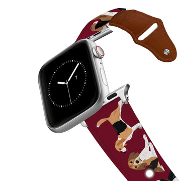Beagle Leather Apple Watch Band Apple Watch Band - Leather C4 BELTS