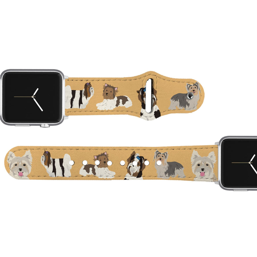 Biewer Terrier Leather Apple Watch Band Apple Watch Band - Leather C4 BELTS