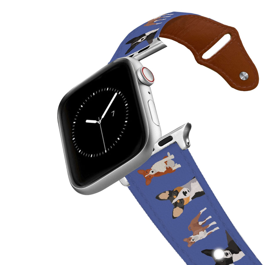 Basenji Leather Apple Watch Band Apple Watch Band - Leather C4 BELTS