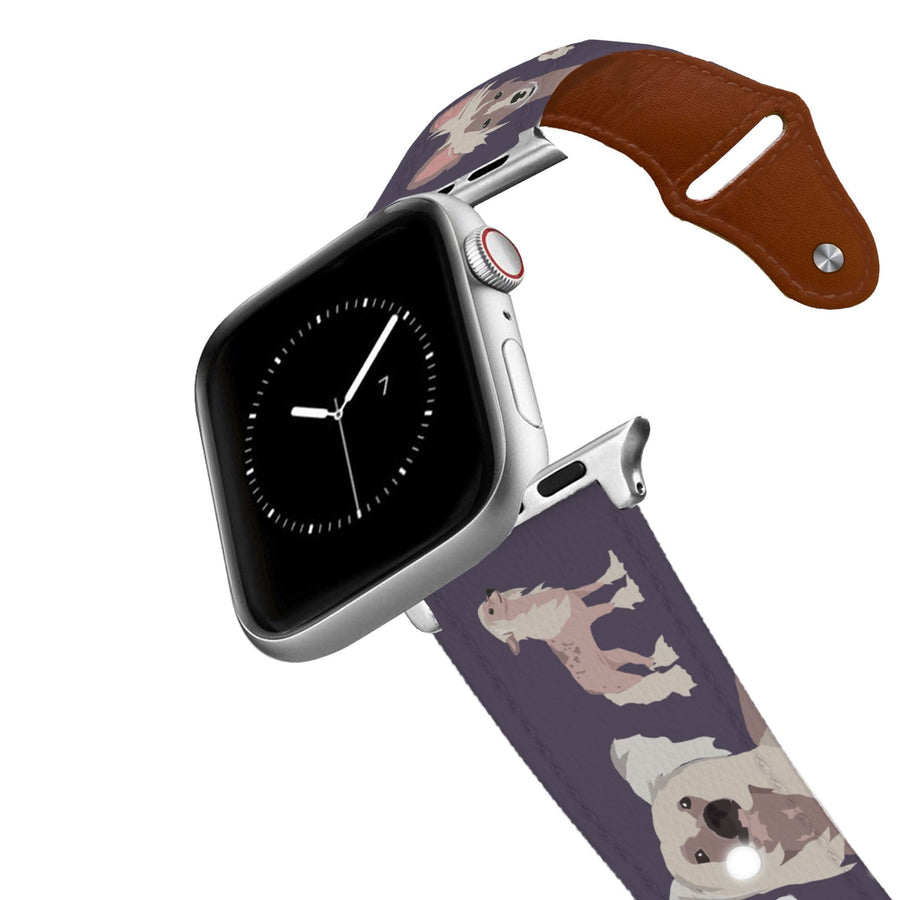 Chinese Crested Leather Apple Watch Band Apple Watch Band - Leather C4 BELTS