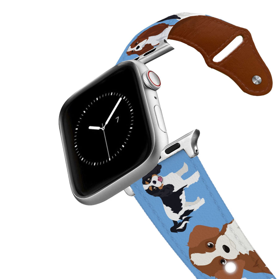 Cavalier King Charles Spaniel Leather Apple Watch Band Apple Watch Band - Leather C4 BELTS