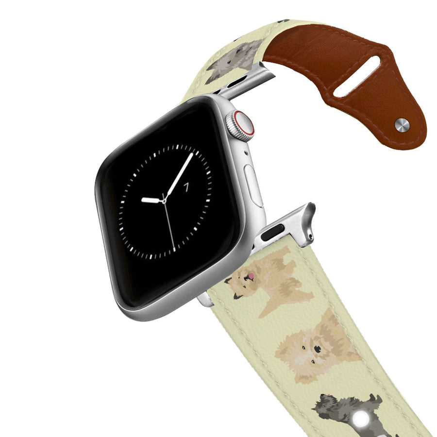 Cairn Terrier Leather Apple Watch Band Apple Watch Band - Leather C4 BELTS