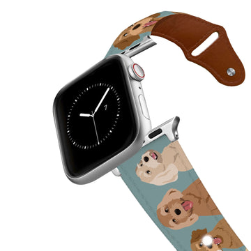 Doodle Leather Apple Watch Band Apple Watch Band - Leather C4 BELTS