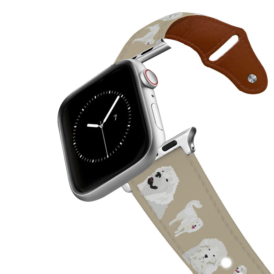 Great Pyrenees Apple Leather Watch Band Apple Watch Band - Leather C4 BELTS