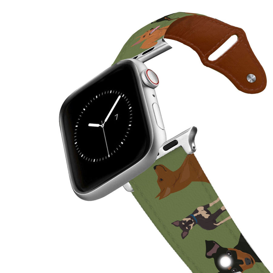 Miniature Pinscher Leather Apple Watch Band Apple Watch Band - Leather C4 BELTS