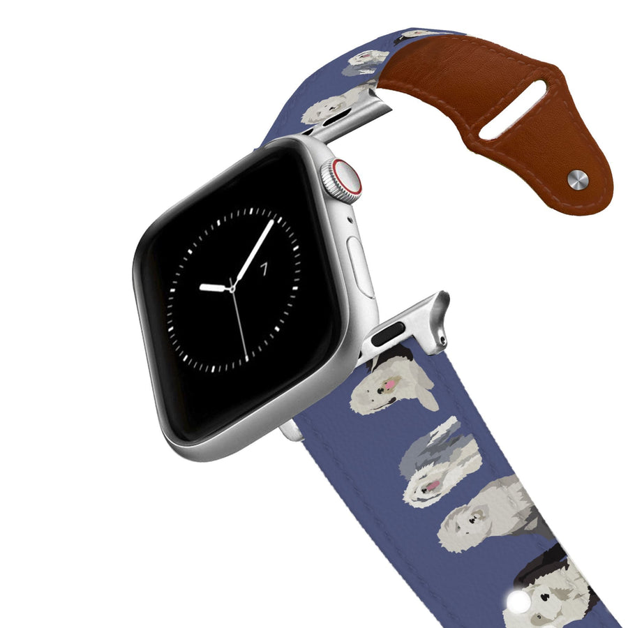 Old English Sheepdog Leather Apple Watch Band Apple Watch Band - Leather C4 BELTS