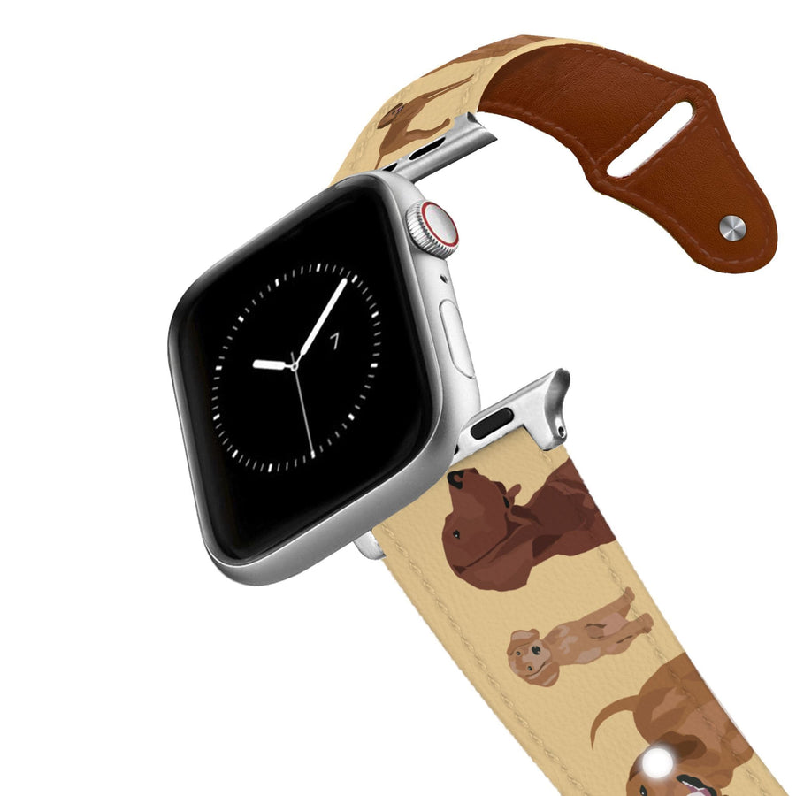 Redbone Coonhound Leather Apple Watch Band Apple Watch Band - Leather C4 BELTS