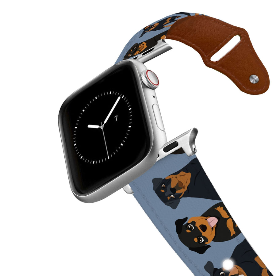 Rottweiler Leather Apple Watch Band Apple Watch Band - Leather C4 BELTS