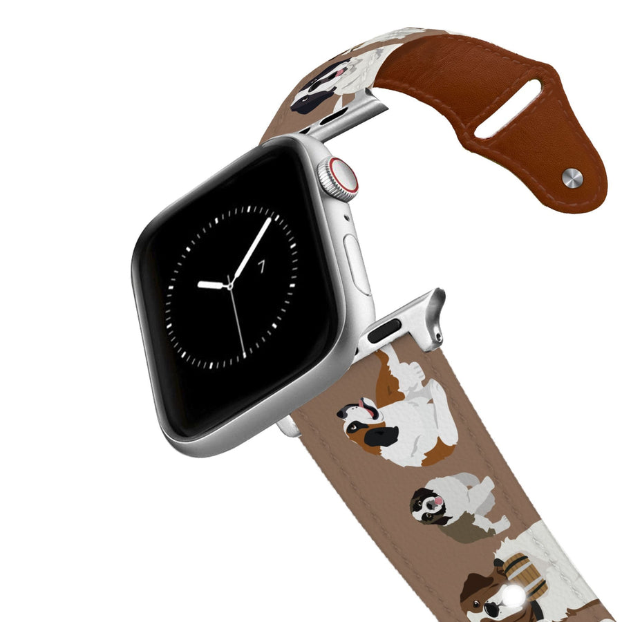 St Bernard Leather Apple Watch Band Apple Watch Band - Leather C4 BELTS