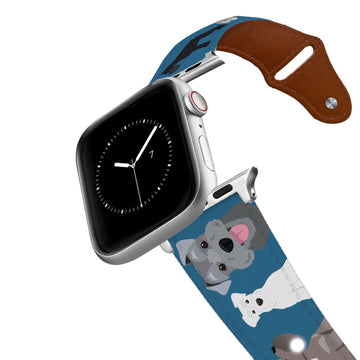 Schnauzer Leather Apple Watch Band Apple Watch Band - Leather C4 BELTS