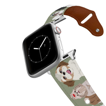 Shih Tzu Leather Apple Watch Band Apple Watch Band - Leather C4 BELTS