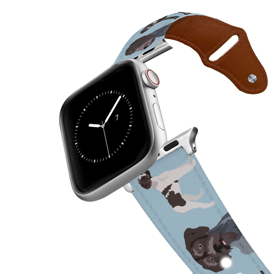 German Wirehaired Pointer Leather Apple Watch Band Apple Watch Band - Leather C4 BELTS