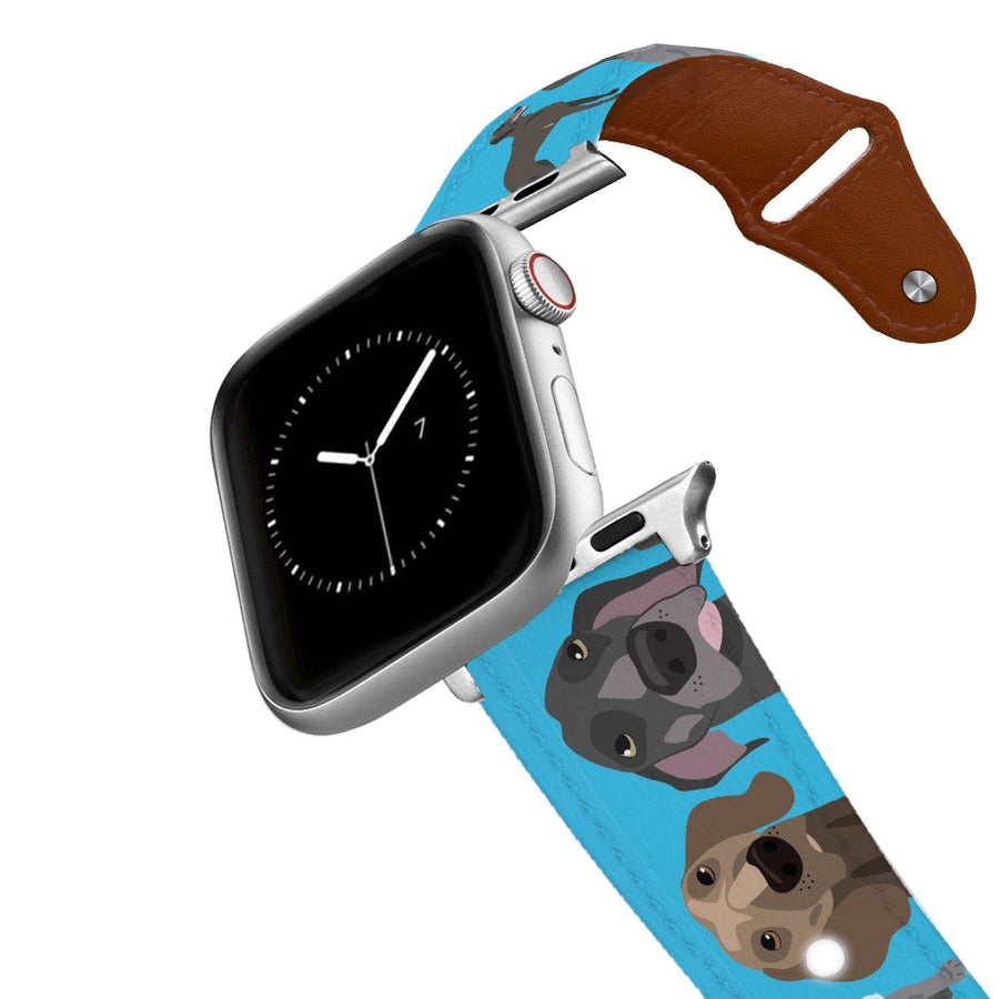Weimaraner Leather Apple Watch Band Apple Watch Band - Leather C4 BELTS