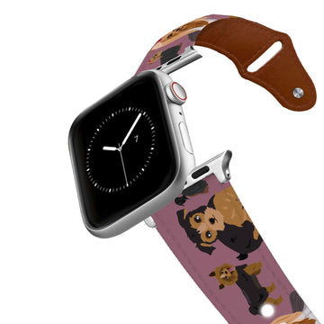Yorkie Leather Apple Watch Band Apple Watch Band - Leather C4 BELTS