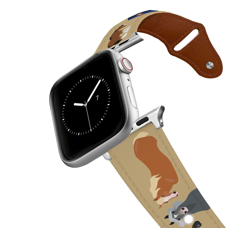 Draft Horses Leather Apple Watch Band Apple Watch Band - Leather C4 BELTS