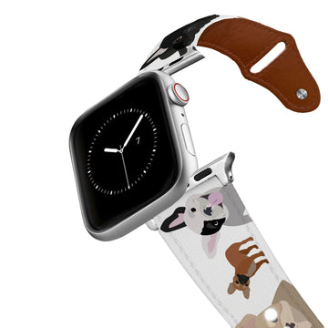 French Bulldog Leather Apple Watch Band Apple Watch Band - Leather C4 BELTS