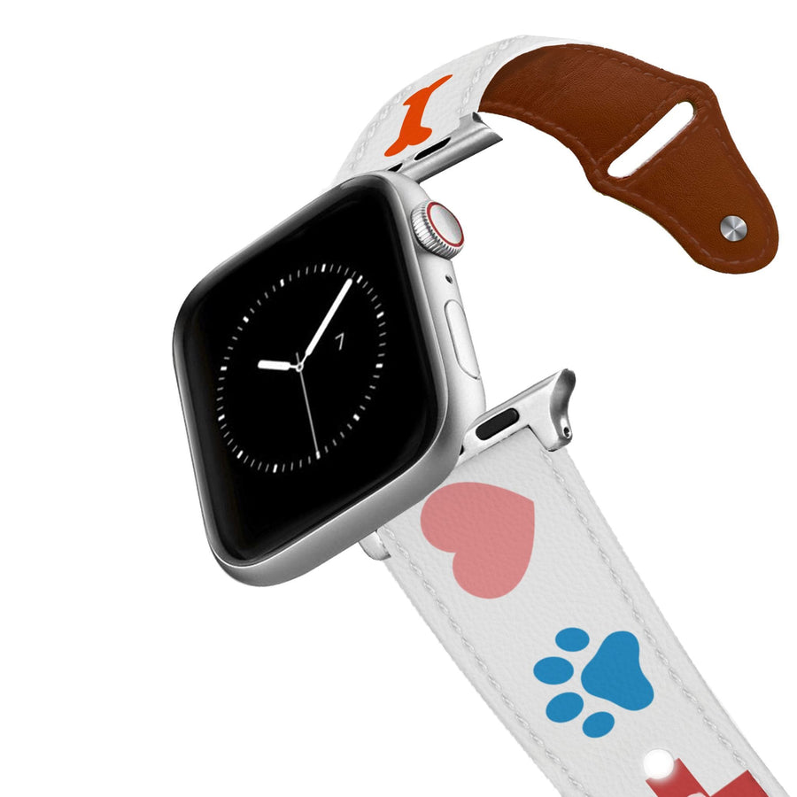 For The Love Of Pets Leather Apple Watch Band Apple Watch Band - Leather C4 BELTS