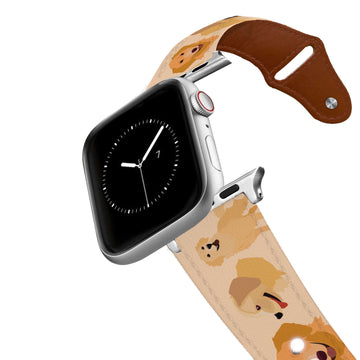 Golden Retriever Leather Apple Watch Band Apple Watch Band - Leather C4 BELTS
