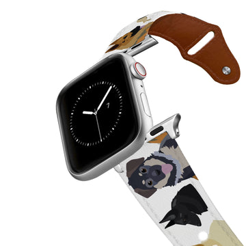 German Shepherd Leather Apple Watch Band Apple Watch Band - Leather C4 BELTS