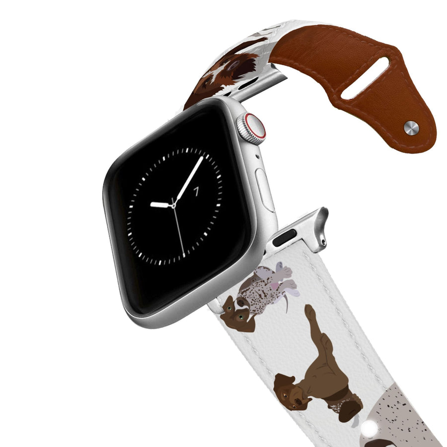 German Shorthaired Pointer Leather Apple Watch Band Apple Watch Band - Leather C4 BELTS