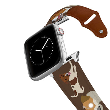 Jack Russell Leather Apple Watch Band Apple Watch Band - Leather C4 BELTS