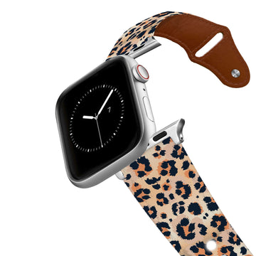 Leopard Print Leather Apple Watch Band Apple Watch Band - Leather C4 BELTS