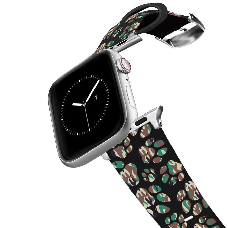 Paw Prints Camo Apple Watch Band Apple Watch Band C4 BELTS