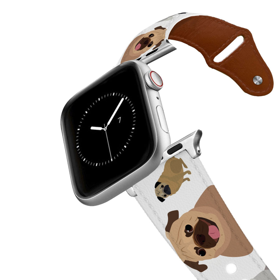 Pug Leather Apple Watch Band Apple Watch Band - Leather C4 BELTS