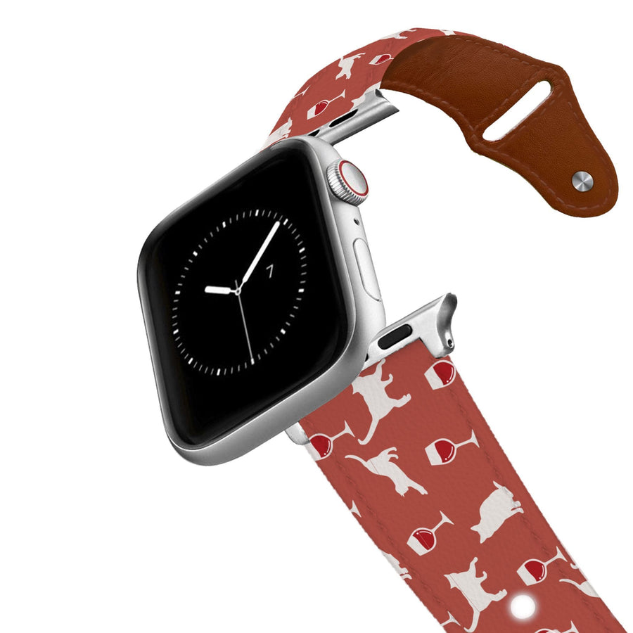 Wine and Feline Leather Apple Watch Band Apple Watch Band - Leather C4 BELTS