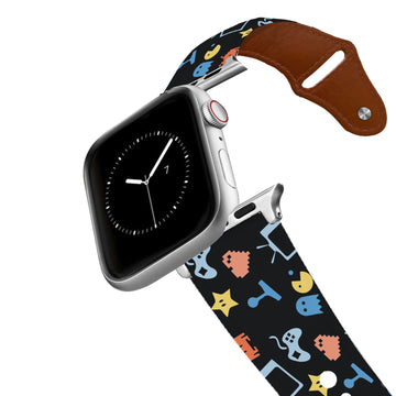 Arcade Black Leather Apple Watch Band Apple Watch Band - Leather C4 BELTS