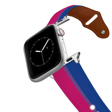 Bi Flag Leather Apple Watch Band Apple Watch Band - Leather C4 BELTS