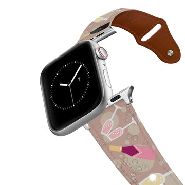 A little Bit of Bubbly Leather Apple Watch Band Apple Watch Band - Leather C4 BELTS